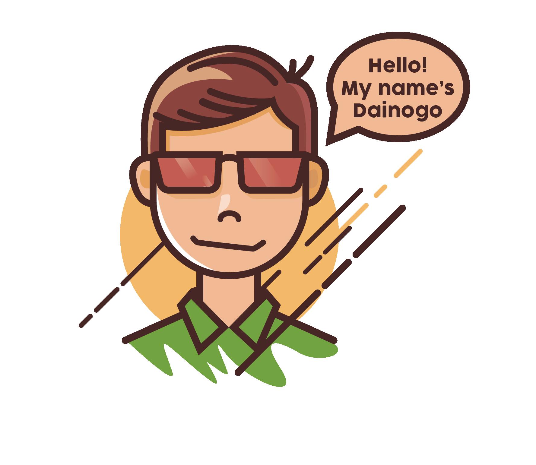 My name is Dainogo - Logo and website designer