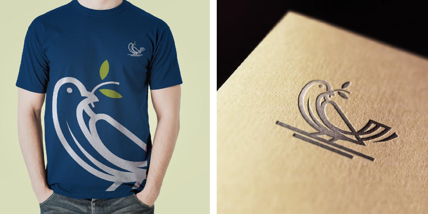 Bird Logo Design and Mockup