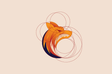 Fox logo using golden ratio