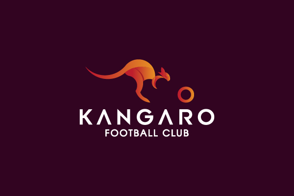 Kangaroo logo golden ratio grid