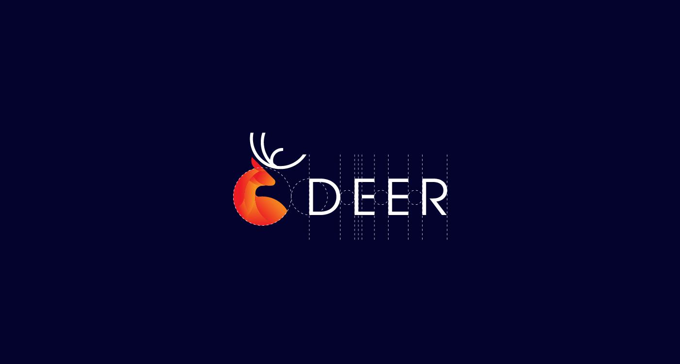 deer logo design  golden ratio