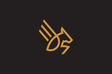 Thumbnail - Pegasus logo design for sale