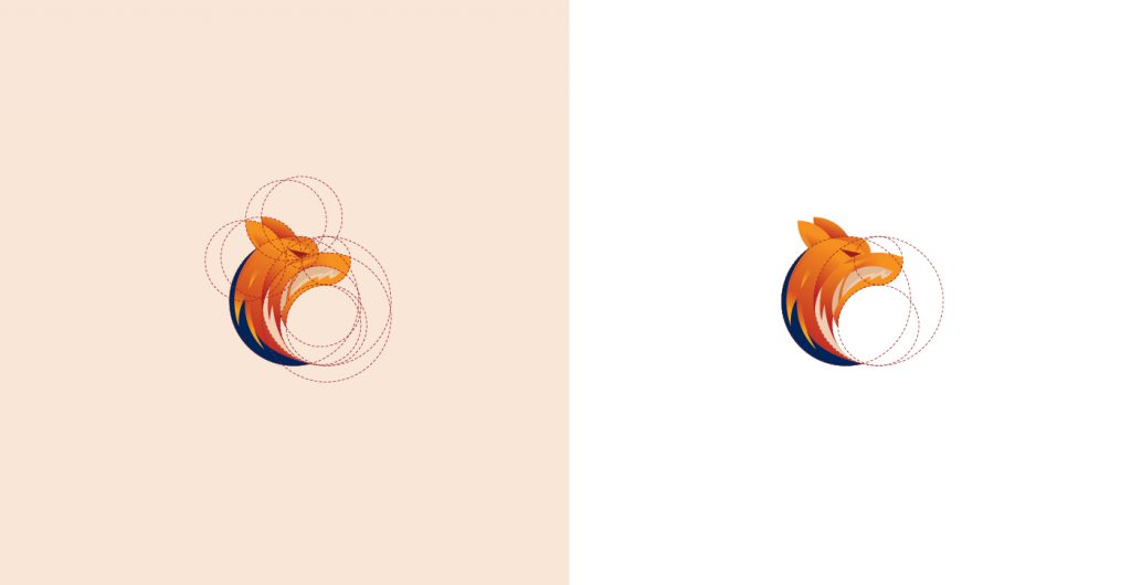 Fox Logo Design based on Golden Ratio