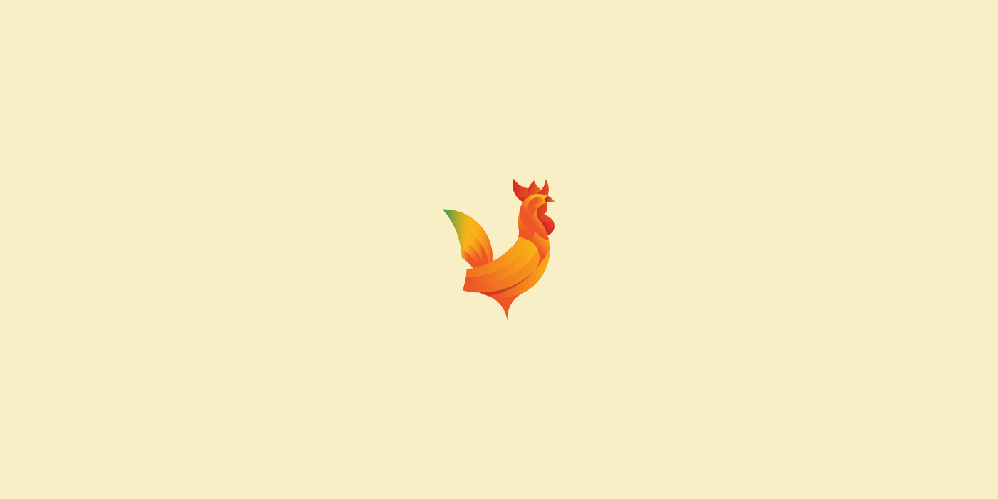 Rooster logo design - For Sale - Dainogo