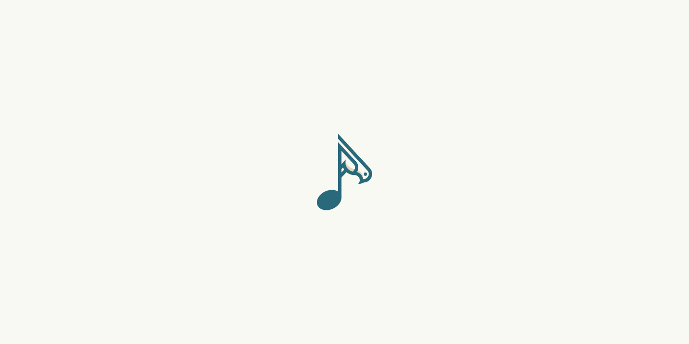 Bird and music logo for sale