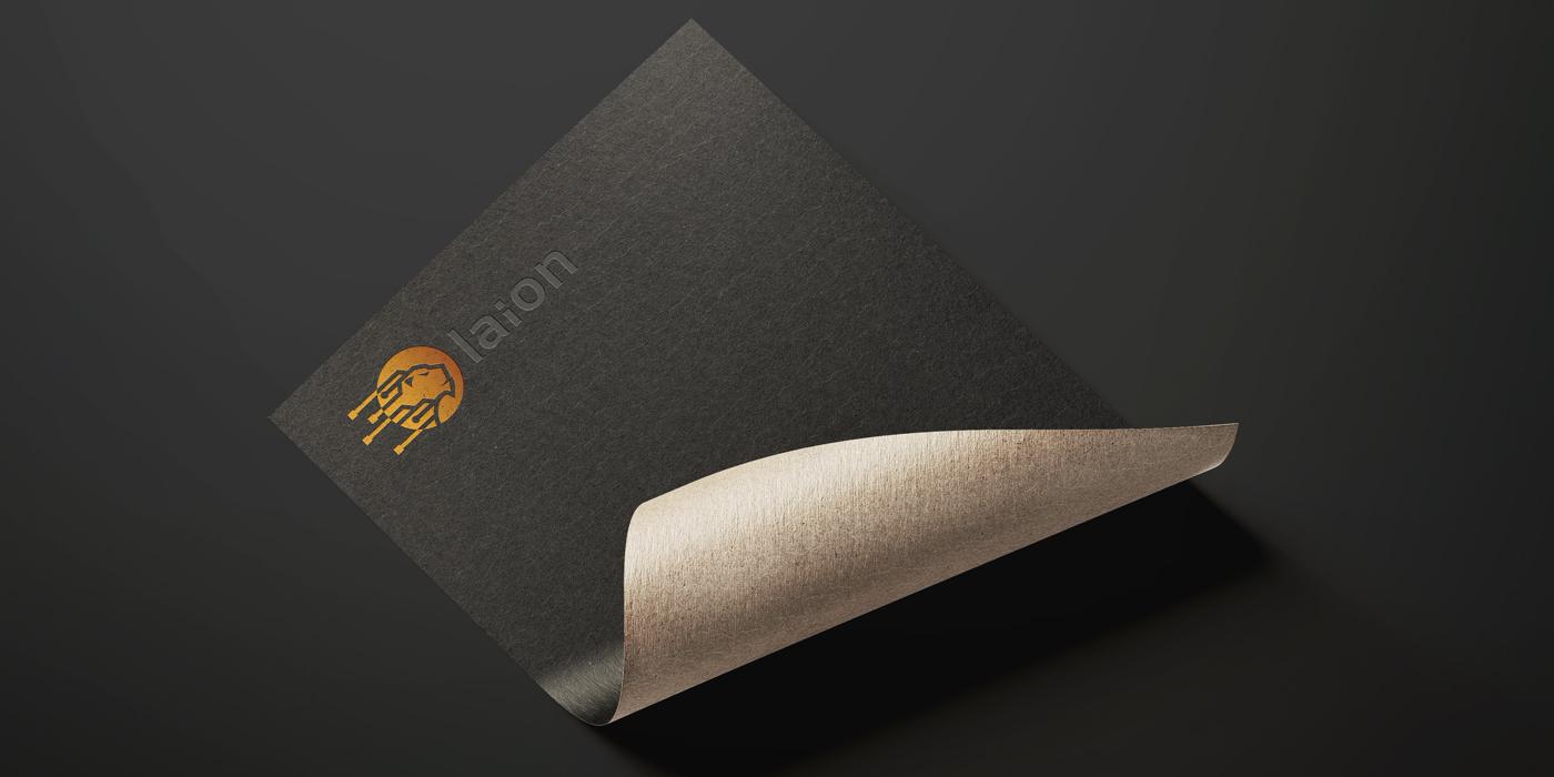 Lion logo mockup