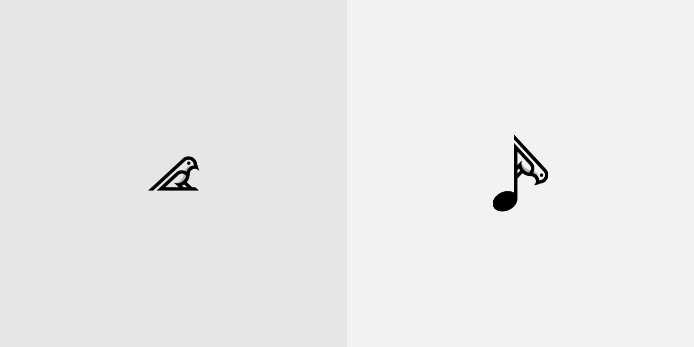 Bird And Music Note Symbol Logo For Sale Dainogo