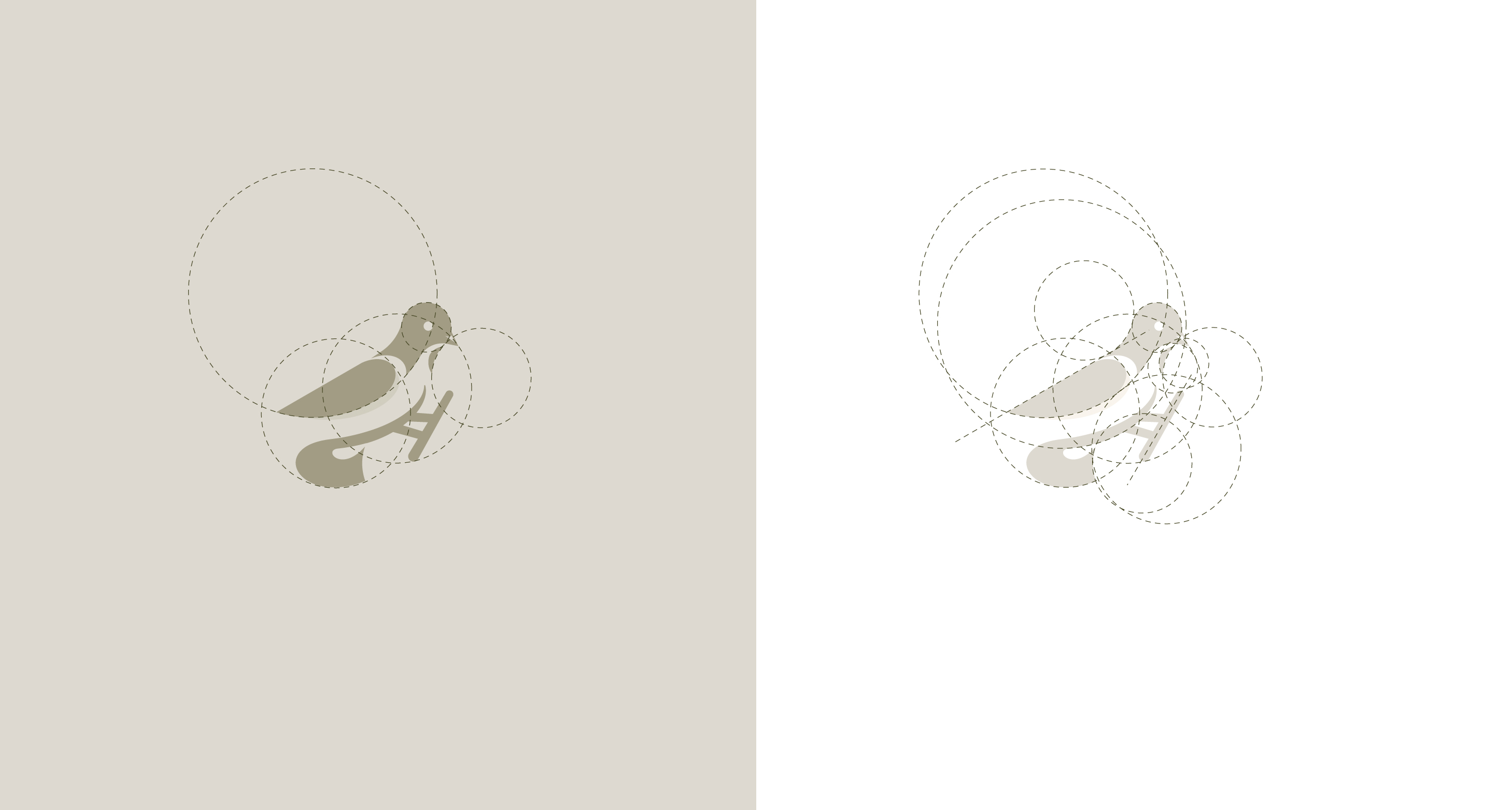 Bird logo design & golden ratio