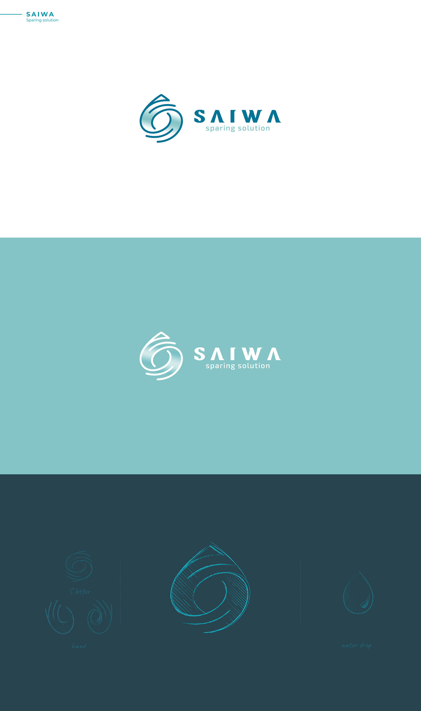 SAIWA - Drop water logo design - logofolio