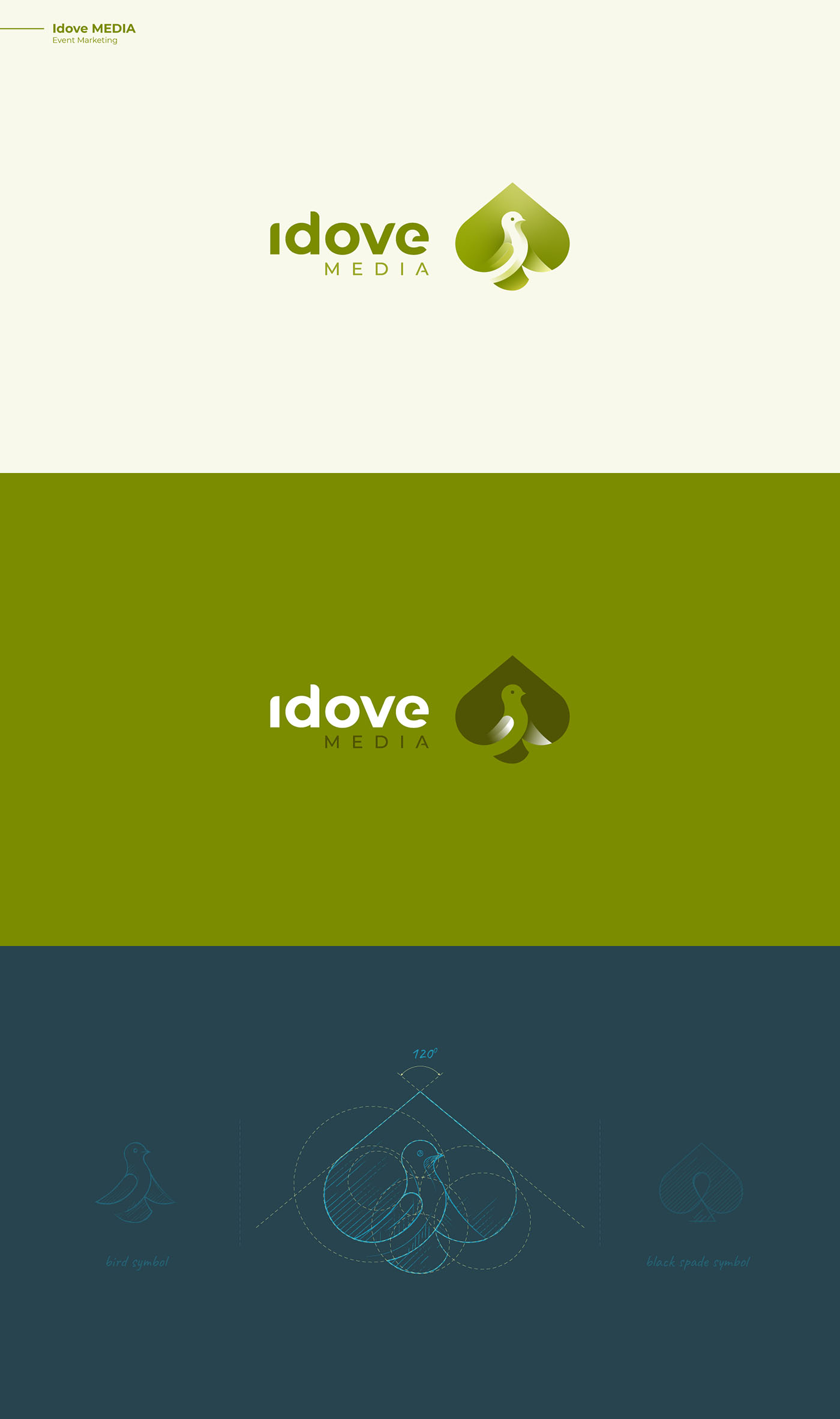 Idove Media - Bird logo design - animal logo