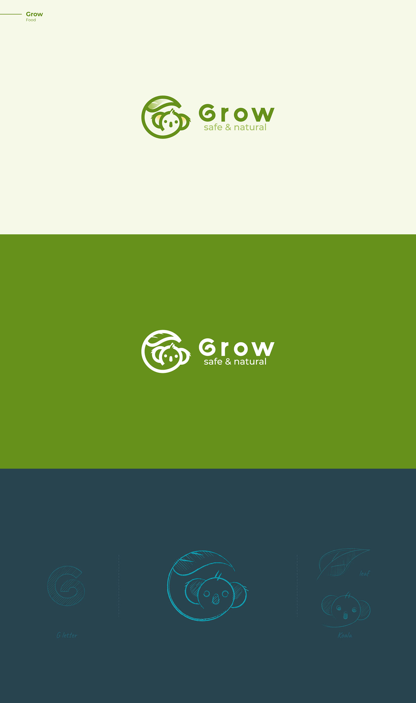 Koala - Grow logo - Sketch & ideas logo
