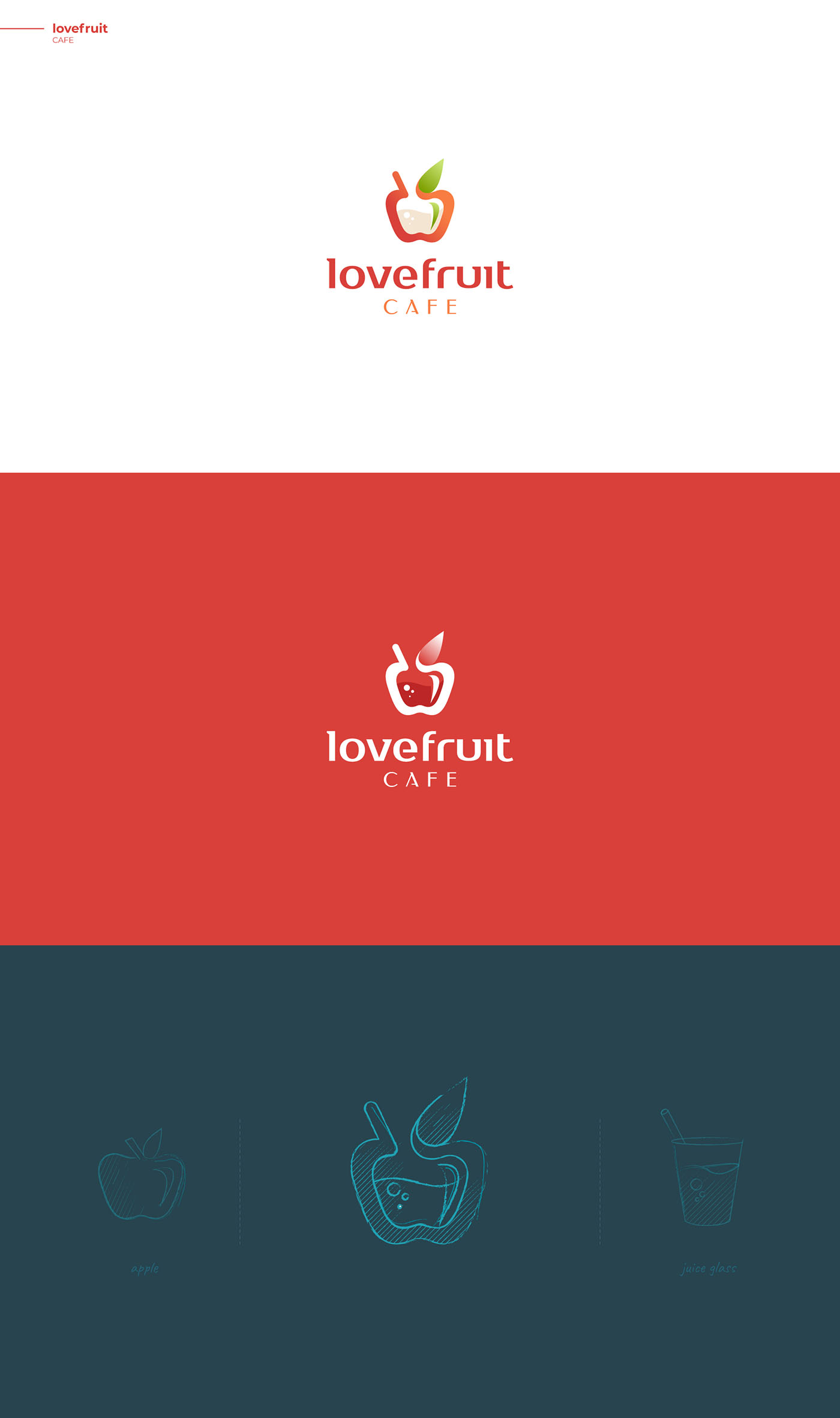 Love Fruit Cafe - Creative logo design by DAINOGO