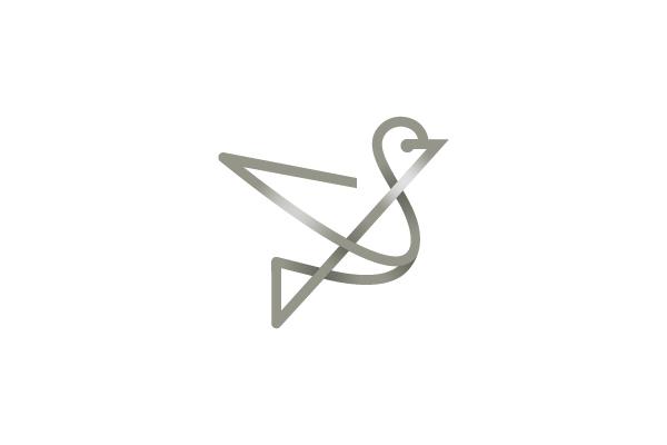 Minimal & Creative Bird Logo Design - DAINOGO